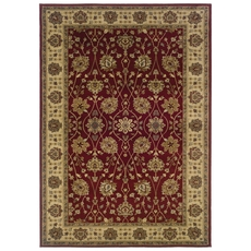 Oriental Weavers Tybee 733R Floral Red and Beige Area Rug