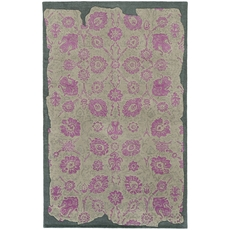 Pantone Universe Color Influence 45104 Oriental Grey and Pink Area Rug by Oriental Weavers