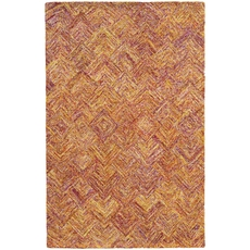 Pantone Universe Colorscape 42113 Geometric Orange and Pink Area Rug by Oriental Weavers