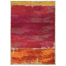 Pantone Universe Expressions 5501R Abstract Orange and Pink Area Rug by Oriental Weavers