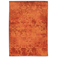 Pantone Universe Expressions 5997C Oriental Orange and Pink Area Rug by Oriental Weavers