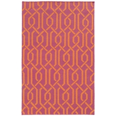 Pantone Universe Matrix 4260M Geometric Pink and Orange Area Rug by Oriental Weavers