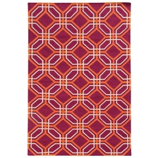 Pantone Universe Matrix 4722G Geometric Pink and Orange Area Rug by Oriental Weavers