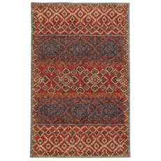 Tommy Bahama Jamison 53301 Geometric Red and Blue Area Rug by Oriental Weavers