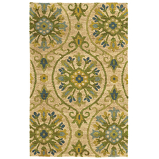 Tommy Bahama Valencia 57701 Floral Beige and Green Area Rug by Oriental Weavers
