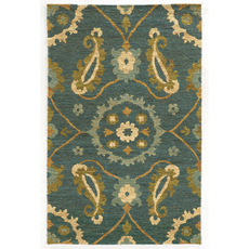 Tommy Bahama Valencia 57702 Floral Blue and Green Area Rug by Oriental Weavers