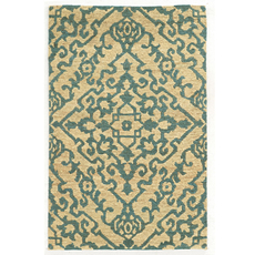 Tommy Bahama Valencia 57703 Geometric Beige and Blue Area Rug by Oriental Weavers