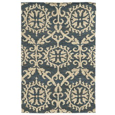 Tommy Bahama Valencia 57704 Floral Navy and Beige Area Rug by Oriental Weavers