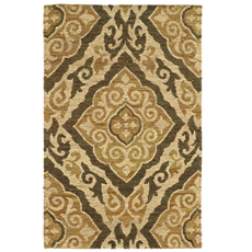 Tommy Bahama Valencia 57705 Floral Beige and Gold Area Rug by Oriental Weavers