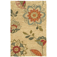 Tommy Bahama Valencia 57709 Floral Beige and Multicolor Area Rug by Oriental Weavers