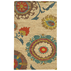Tommy Bahama Valencia 57710 Floral Beige and Multicolor Area Rug by Oriental Weavers