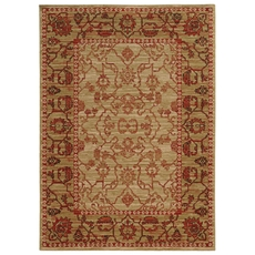 Tommy Bahama Vintage 4928J Oriental Beige and Red Area Rug by Oriental Weavers
