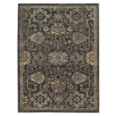 Tommy Bahama Vintage 668N Floral Blue and Grey Area Rug by Oriental Weavers