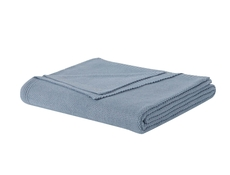 PEM America Laura Ashley Metallic Twin Blanket in Blue Fog