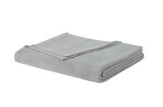 PEM America Laura Ashley Metallic Full/Queen Blanket in Grey Mist