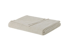 PEM America Laura Ashley Metallic King Blanket in Ivory