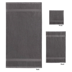 PEM America London Fog 6 Piece Quick Dry Towel Set in Steeple Gray