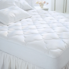 Pacific Coast Feather Restful Nights Cotton Top Full Mattress Pad in White