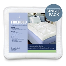Pacific Coast Feather Restful Nights Down Alternative Twin Fiber Bed in White