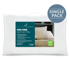 Pacific Coast Feather Restful Nights Even Form Latex Queen Pillow in White