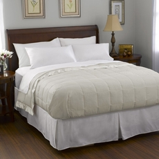 Pacific Coast Feather Satin Trim Down King Blanket in Cream