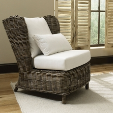 Padma's Plantation Majorca Lounge Chair in Kubu Grey