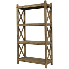 Padma's Plantation Salvaged Wood Cross Rack Bookcase