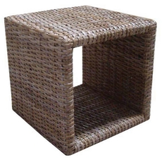 Padma's Plantation Single Woven Cube in Kubu Grey