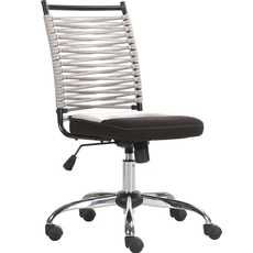 Parker House Bungee Low Back Adjustable Office Chair in Grey and Black