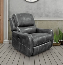 Parker Living Comfort August Lay Flat Power Recliner in Platinum