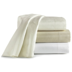 Clearance Peacock Alley Duet II King Fitted Sheet in White OVLB0818020