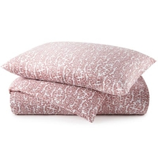 Peacock Alley Fern King Duvet Cover - Berry