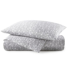 Peacock Alley Fern Queen Duvet Cover - Charcoal
