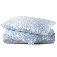 Peacock Alley Fern Twin Duvet Cover - Denim