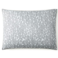 Peacock Alley Fern King Pillow Sham - Charcoal