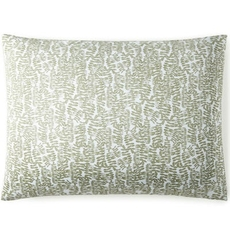 Peacock Alley Fern King Pillow Sham - Olive