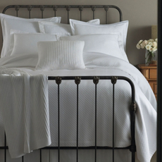 Peacock Alley Oxford Coverlet Tailored in White