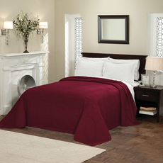 Pem America American Traditions French Tile Bedspread in Deep Red