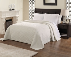 Pem America American Traditions French Tile White Microfiber Bedspread