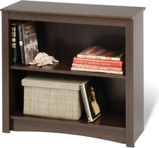 Prepac 2 Shelf Bookcase in Espresso