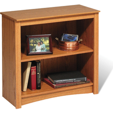 Prepac 2 Shelf Bookcase in Oak