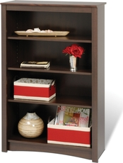 Prepac 4 Shelf Bookcase in Espresso