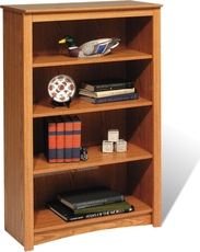 Prepac 4 Shelf Bookcase in Oak