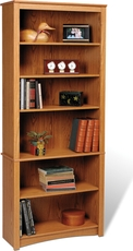 Prepac 6 Shelf Bookcase in Oak