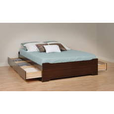 Prepac Coal Harbor Mate's Platform Storage Bed with 6 Drawers in Espresso