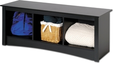 Prepac Sonoma Cubbie Bench in Black