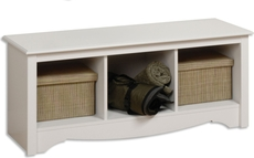 Prepac Sonoma Cubbie Bench in White