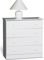 Prepac Edenvale 4 Drawer Chest in White