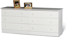 Prepac Edenvale 6 Drawer Dresser in White