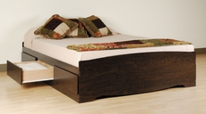Prepac Full Mate's Platform Storage Bed with 6 Drawers in Espresso